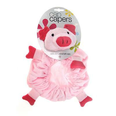 Kids Adorable & Fun Cap Capers Super Soft Pink Pig Bath & Shower Cap