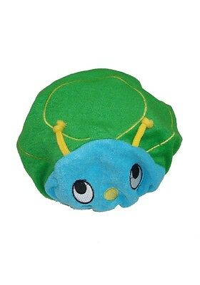 Shower Chum Soft towelling Kids 3D Animal Tortoise Design Elasticated Shower Cap