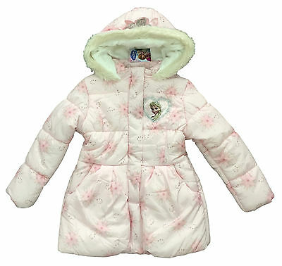 Girls Coat Disney Frozen Hooded Warm Winter Puffa Coat 6 7 8 9 10 11 Years