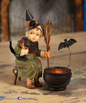 Bethany Lowe Halloween Little Witch With Cauldron  TD3033