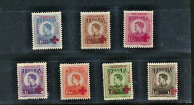 Romania King Michael  Mint 1943 Set with Red Cross Overprint 7 values