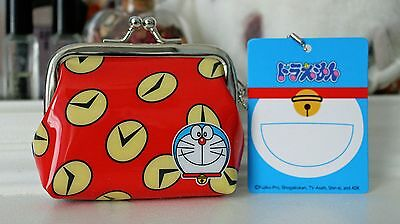 DORAEMON Japan Exclusive Kiss Lock Coin Purse Keychain KAWAII NEW Change Crate