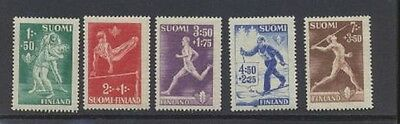 Wrestling Sports Finland #B69 - B73 Mint Never Hinged Complete 1945 Set
