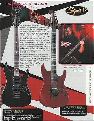 Andreas Kisser Sepultura Fender Squier Stagemaster Deluxe HH HSH guitar ad print