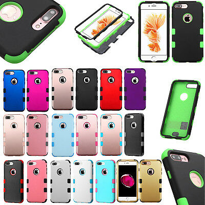For Apple iPhone 7 & 7 PLUS IMPACT TUFF HYBRID Protector Case Skin Phone Cover