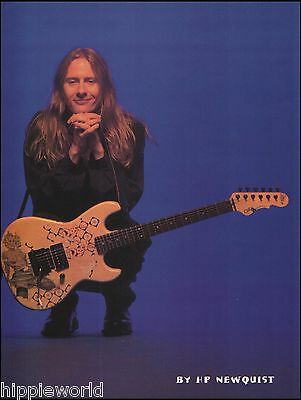 Alice in Chains Jerry Cantrell Signature G&L Rampage guitar 8 x 11 pinup photo b