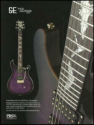 Cradle of Filth Paul Allender Signature PRS SE guitar ad 8 x 11 advertisement