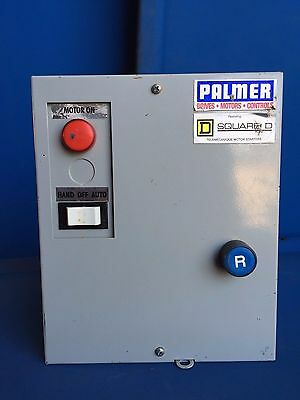 Palmer Square D Full Voltage Starter  D09-Xa-8A-G7 2Hp 208V 3Ph