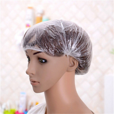 20PCS Pack Disposable Shower Caps Polythene Waterproof Hair Bath Travel DIY New
