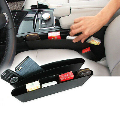 2Pcs Car Auto Vehicle Seat Slit Storage Box Catcher Holder Pocket Organizer HOT