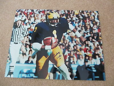 Anthony Carter University of Michigan Autographed 11x14 Photo