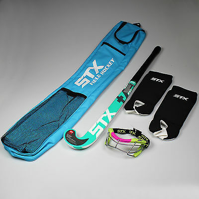 NEW STX Rookie Field Hockey Starter Pack Includes: Stick/Goggles/Shin Guards/Bag