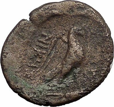THESSALONICA in MACEDONIA 187BC Zeus Eagle Authentic Ancient Greek Coin i57653
