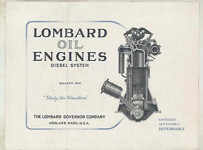 1920 ? Lombard 60 90 120 HP Diesel Oil Engines Brochure Ashland Mass ww2273