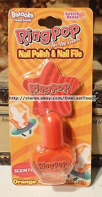 Lotta Luv RING POP Scented ORANGE CREAM Nail Polish + STAR Nail File(carded)2/2