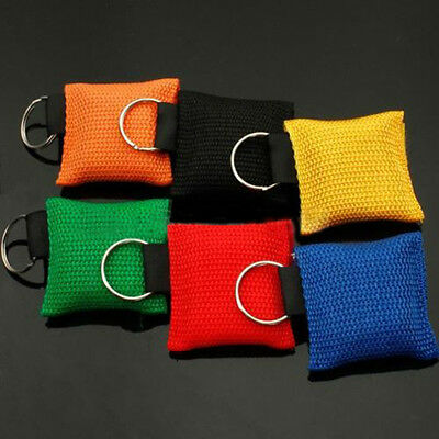 Portable CPR Mask Keychain Safty Emergency Face Shield First Aid Rescue Bag EX