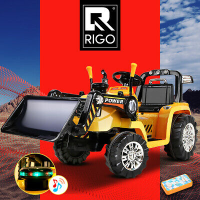 RIGO Kids Ride-On Bulldozer Loader Digger Tractor Car Excavator Electric Toy