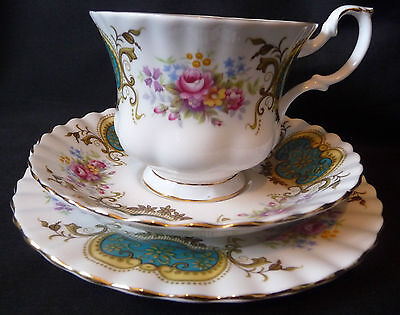 Royal Albert Vintage  'BERKELEY' Tea Trio  Made in  England