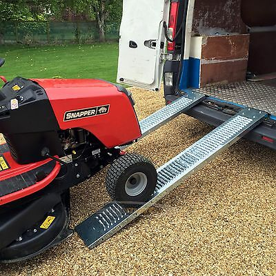 1.85M Loading Ramps - PAIR Heavy Duty 400KG Trailer Van Motorbike Quad Mower