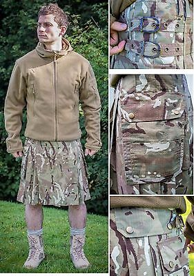 British Army Camo Hmtc / Mtp Highlander Combat Battle Kilt Multicamo