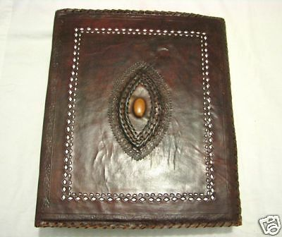 100%LEATHER JOURNAL SCRAPBOOK HOTEL WEDDING GUEST BOOK 45x33x11cm Gr8 Gift Xmas