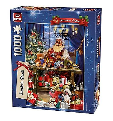 1000 Piece Christmas Jigsaw Puzzle - Santa's Desk Making Toys Presents  05360