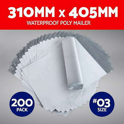 100X Poly Mailer 310x405mm Plastic Satchel Post Shipping Courier Bags Size #03