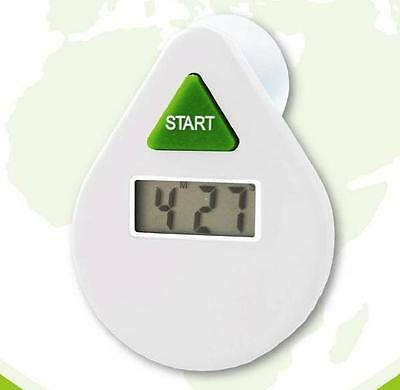 EcoSavers White 5 Minutes Drop Digital LCD Shower Coach Timer Water Saver