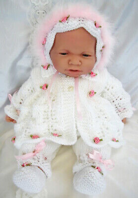 """Knitting Pattern Premature Baby//Dolls Outfit COPY PATTERN ONLY 12-22/"""" DK si31"""