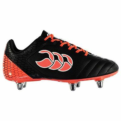 Canterbury Kids Stampede Club Junior Rugby Boots Lace Up Shoes Stitched Detail