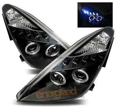 Toyota Celica  2000-2006 Black Angel Eyes Headlights Pair