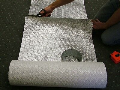 10' Faux Tin Backsplash Roll WC20 Stainless Steel-for seamless installation