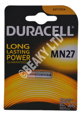 Genuine Duracell MN27 27A L828 Alkaline Battery 12v [1-Pack]