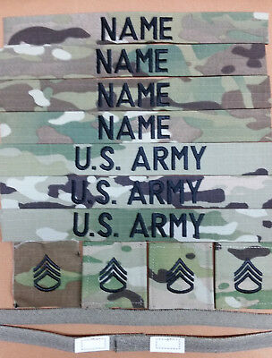 U.S. ARMY Scorpion (OCP) NAME TAPES RANKS HELMET BAND WITH