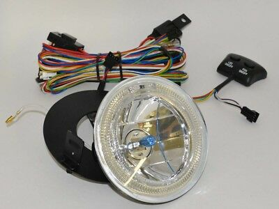 70-73 Camaro RS Park Lamp Driving Light Pair Multi Color Halo LED Glow Ring