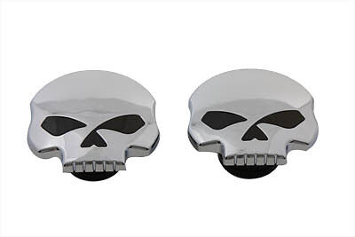 Skull Style Gas Cap Set Vented and Non-Vented, SET,for Harley Davidson motorcycl