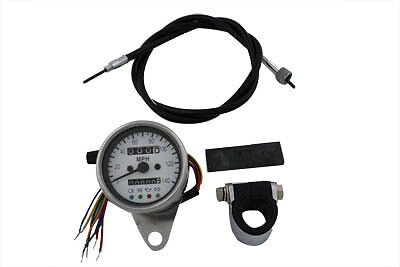 Mini 60mm Speedometer with 2:1 Ratio, KIT,for Harley Davidson motorcycles,by V-T