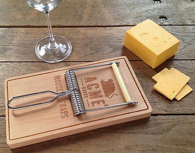 Fred OH SNAP Mouse Trap CHEESE Cutting BOARD and SLICER SET