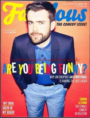 JACK WHITEHALL - Cover & Photo Feature in FABULOUS Magazine, Aug 2015. Free Post