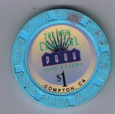 The New Crystal Park Hotel $1.00 Poker Casino Chip Compton, California