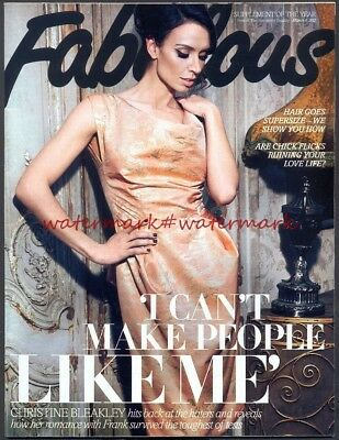 CHRISTINE BLEAKLEY - Cover & Photo Feature in FABULOUS Magazine, March 2012