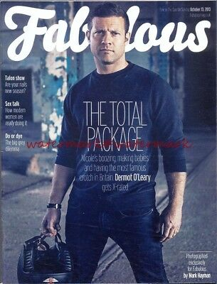 DERMOT O'LEARY - Cover & Photo Feature in FABULOUS Magazine, Oct 2013. Free Post