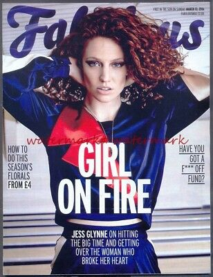 JESS GLYNNE - Cover & Photo Feature in FABULOUS Magazine, March 2016. Free Post