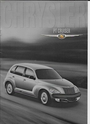 Chrysler Pt Cruiser Limited, Touring & Classic Sales Brochure June 2000 + Prices