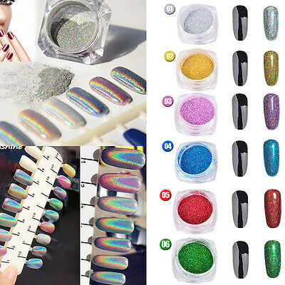 25 colors Nail Art Powder Glitter Magic Mirror Chrome Effect Dust Pigment