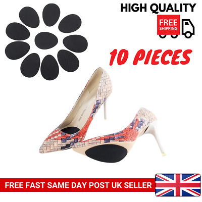 5Pairz of Self-Adhesive Anti-Slip Stick on Shoe Grip Pads Rubber Sole Protectors