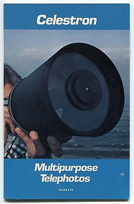 "1976 ""CELESTRON"" Promo Publication: ""Multipurpose Telephotos"""