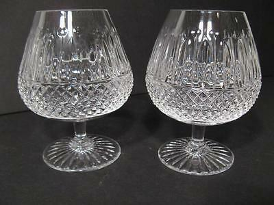 St Louis Crystal  Tommy  Clear 2 Brandy Glasses    Mint