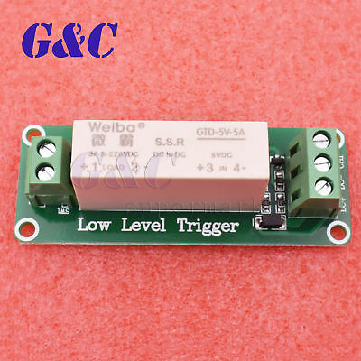 1 Channel SSR Solid State Relay low Trigger 5A 0-2V DC-DC Arduino Uno R3
