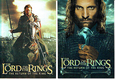 Lord Of The Rings Return Of The King Set Of Two Box Foils